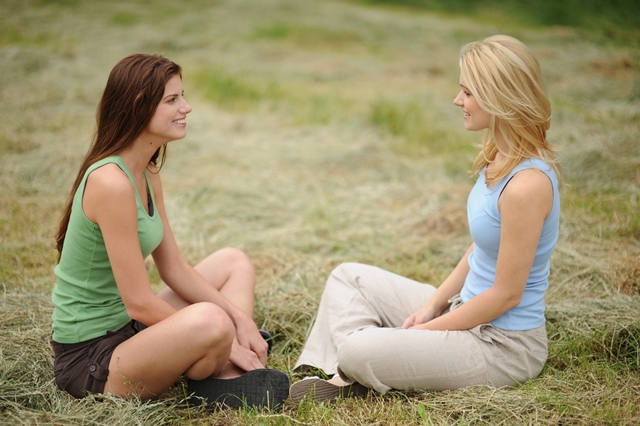 Portrait of Two Pretty Girls, outdoors